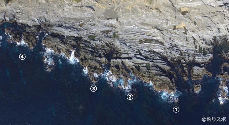 城ヶ島展望台下釣りポイント