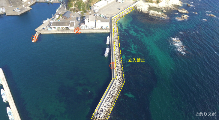 間口港-三浦半島磯釣り空撮情報