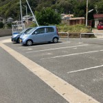 豊岡海岸駐車スペースに車を停める。
