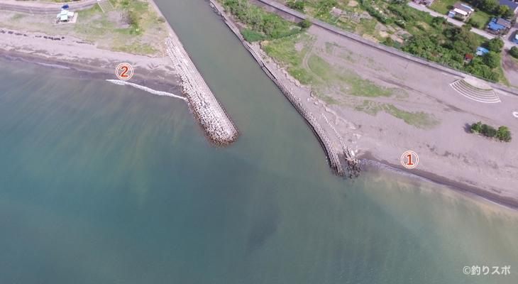 岡本川河口釣り座