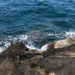 ①沖の沈み根を狙って石鯛を狙う。