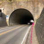トンネルを進む。