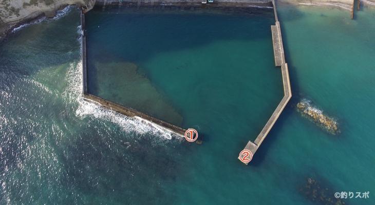 串浜港釣り座