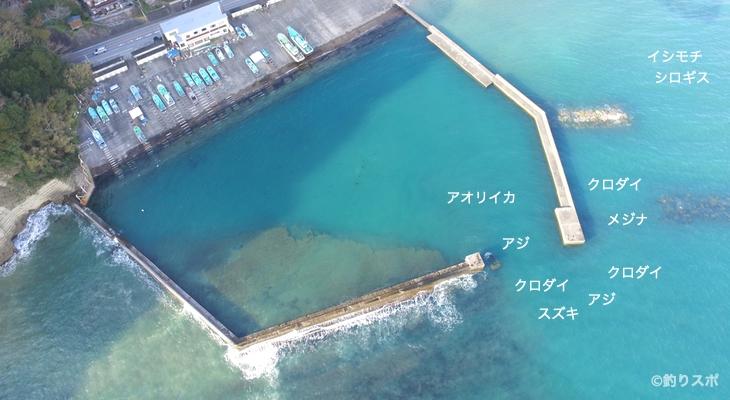 串浜港空撮釣り場