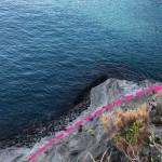 写真はコブと呼ばれるあたりでここでも釣りが可能。さらに進むと①に到着する。
