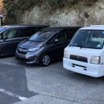 石部港駐車場に車を停める。