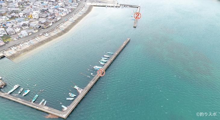 浜島港釣り座
