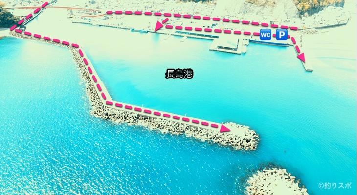 長島港行き方