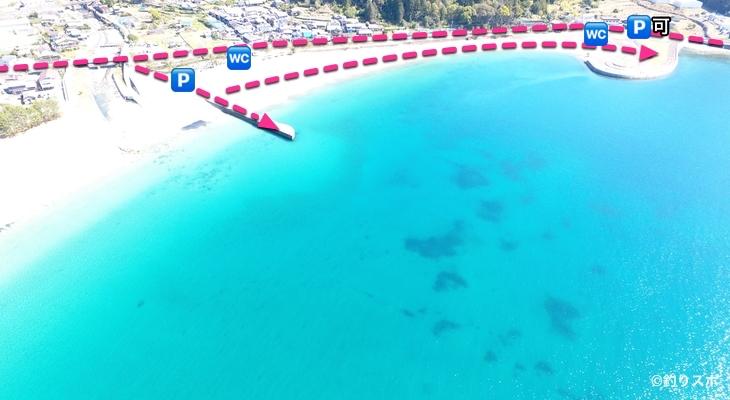三木里海水浴場行き方1