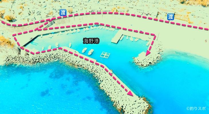 海野港行き方