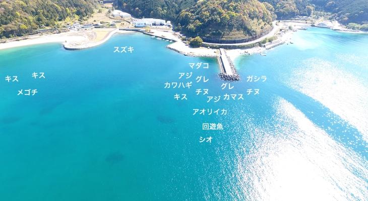 三木里海水浴場空撮釣り場情報