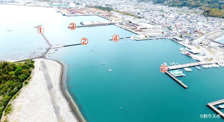 三輪崎港釣りポイント