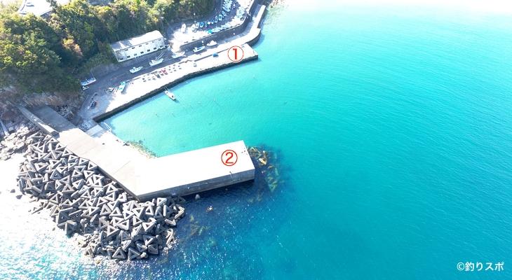松崎港釣り場
