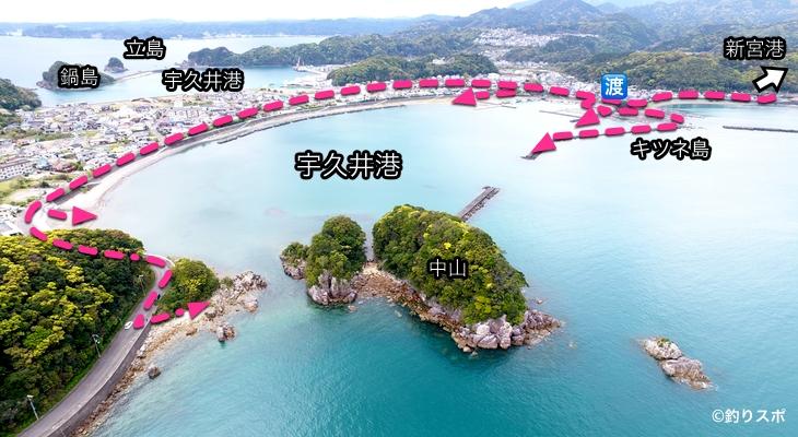宇久井港行き方