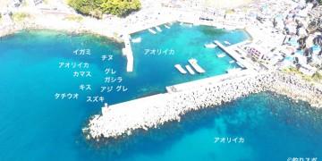 磯崎港空撮釣り場情報