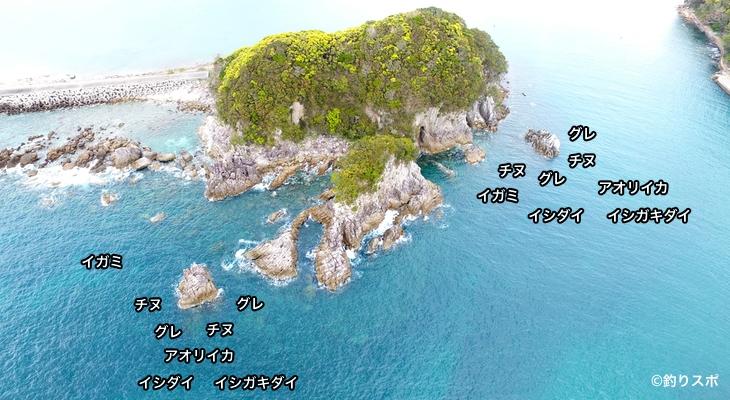 鍋島空撮釣り場情報