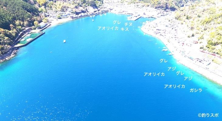 二木島港空撮釣り場情報