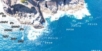 千畳敷(鬼ヶ城)空撮釣り場情報