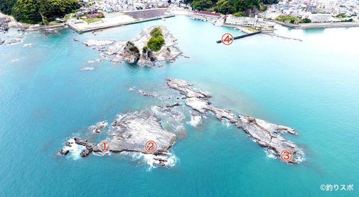 小金島港釣り座