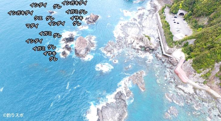 オジャウラ空撮釣り場情報