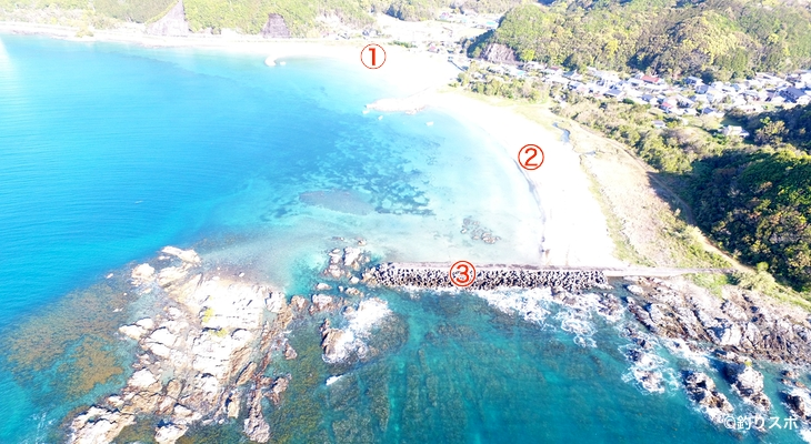 玉ノ浦海水浴場釣り座