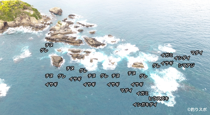 燈明崎空撮釣り場情報