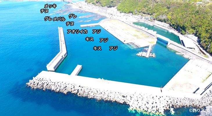 動鳴気港空撮釣り場情報