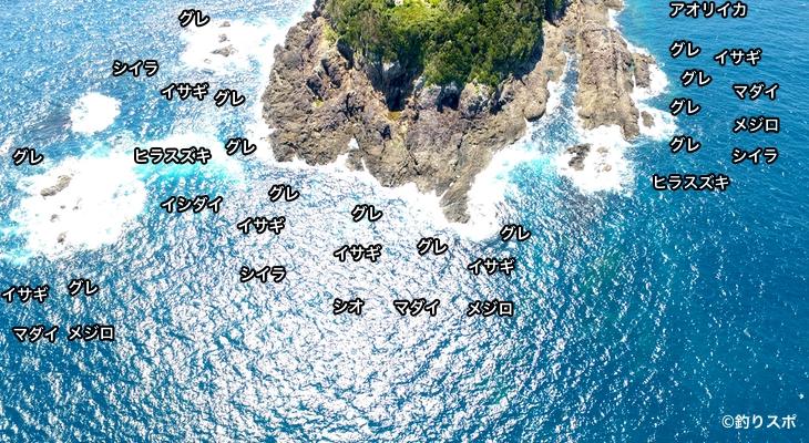 樫野崎灯台空撮釣り場情報