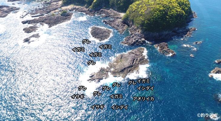 グヤ島空撮釣り場情報