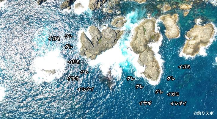 ヘナガ島空撮釣り場情報
