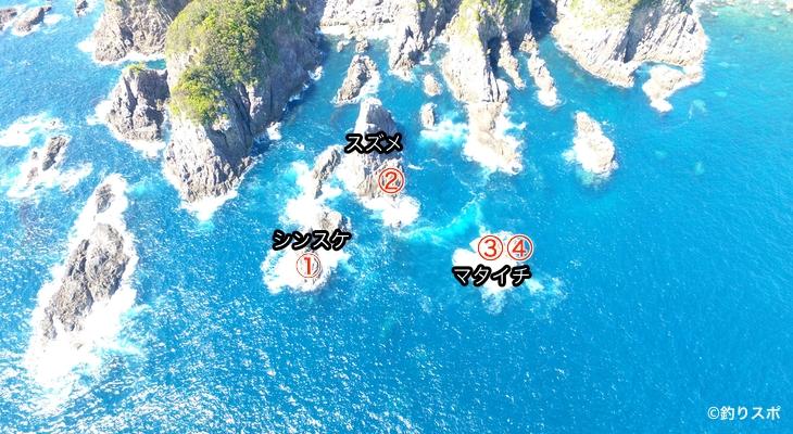 マタイチシンスケ釣り座