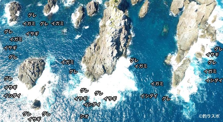 タカノ巣大島空撮釣り場情報