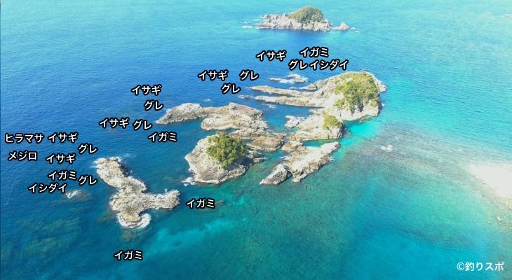 陸の黒島空撮釣り場情報