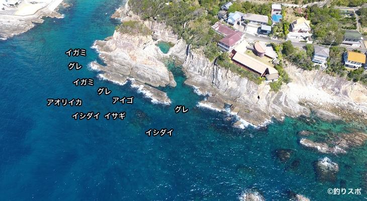 ウマノセ空撮釣り場情報