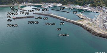 阿尾漁港空撮釣り場情報