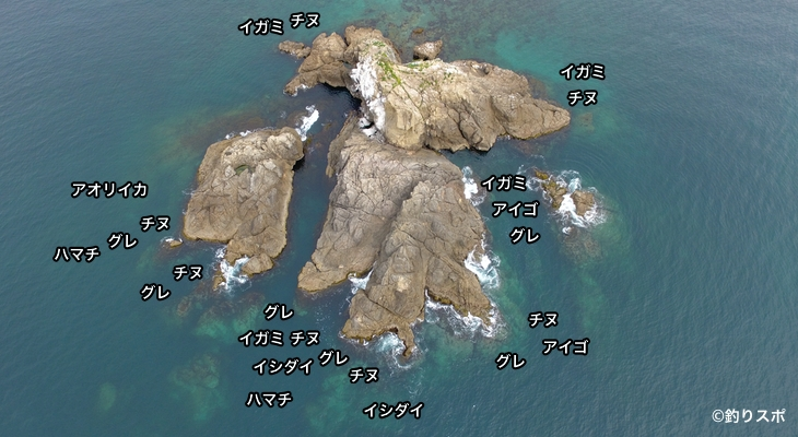 弁天島空撮釣り場情報