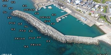 埴田漁港空撮釣り場情報