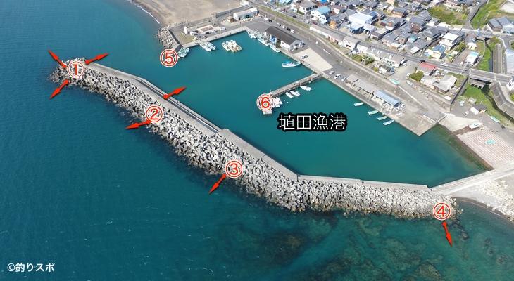 埴田漁港ポイント