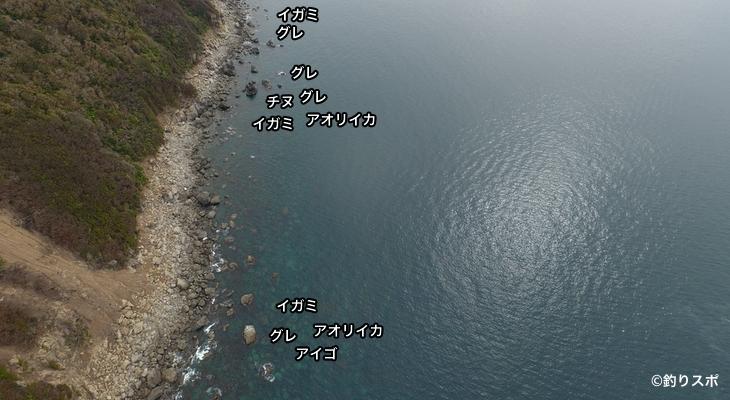 モンべ空撮釣り場情報