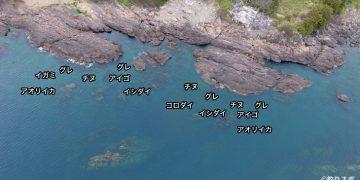 潮吹岩空撮釣り場情報