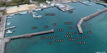 塩屋漁港空撮釣り場情報