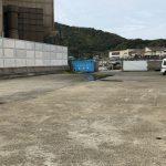 神谷漁港工場側の駐車スペース