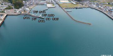 由良港空撮釣り場情報