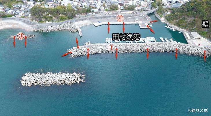 田村漁港ポイント